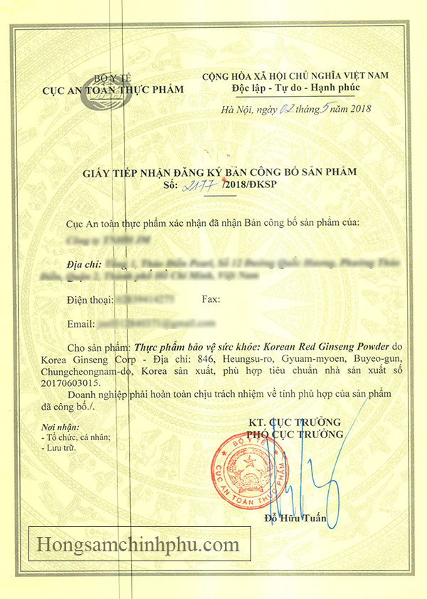 Bột sâm KGC nhập khẩu chính hãng